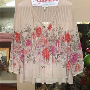 Women's size small silk floral top